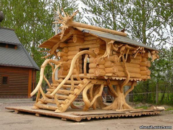 Построить деревянный дом своими руками фото